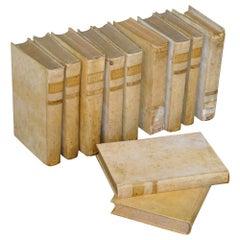 18th Century Set of Italian Vellum Books