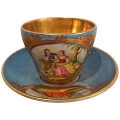 18th Century Sevres Cup and Saucer