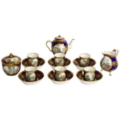 18th Century Sèvres Porcelain Complete Tea Set, with Painters and Guilders Mark