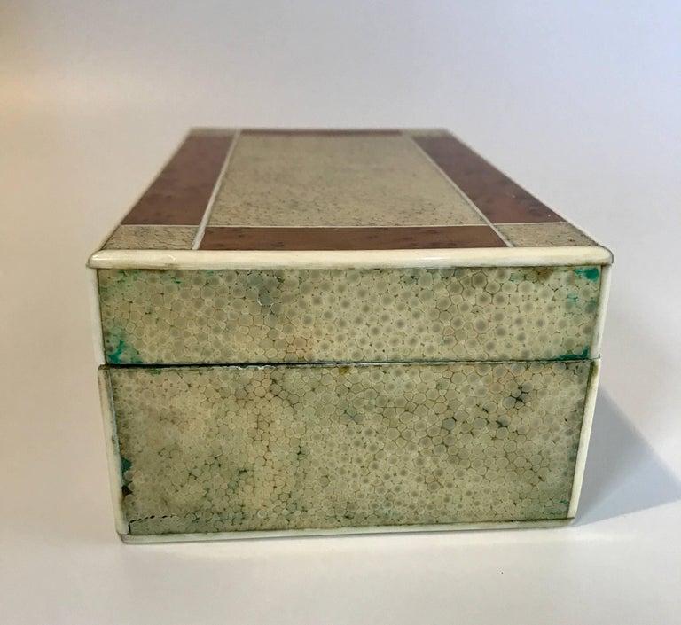 English 18th Century Shagreen Box with Bone and Bird's-Eye Maple Trim For Sale