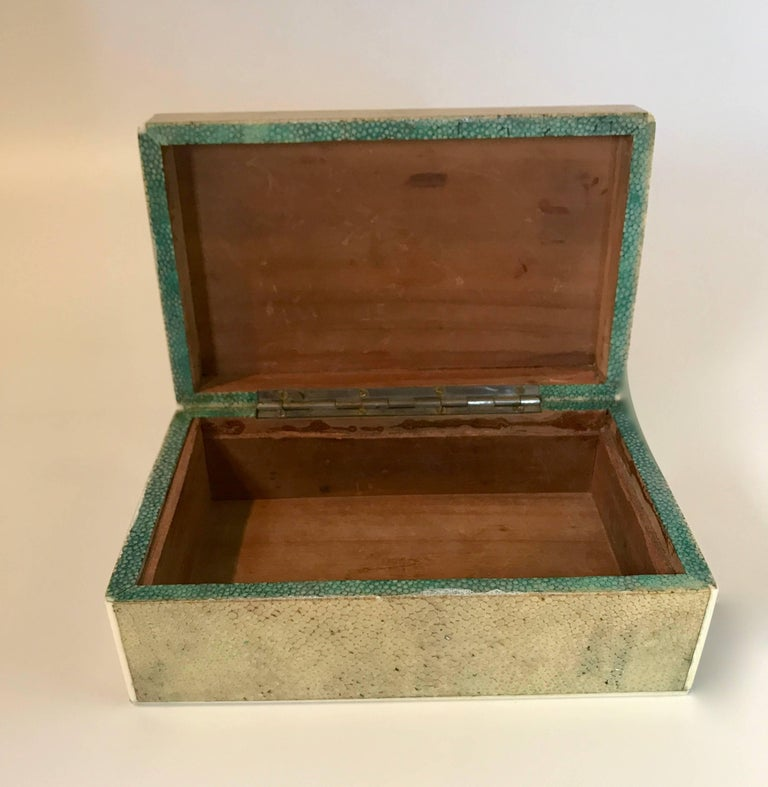 18th Century Shagreen Box with Bone and Bird's-Eye Maple Trim For Sale 1