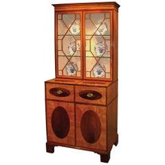 18th Century Sheraton Satinwood Bookcase