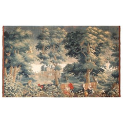18th Century Silk And Wool Antique French Tapestry. 9 ft 1 in x 15 ft