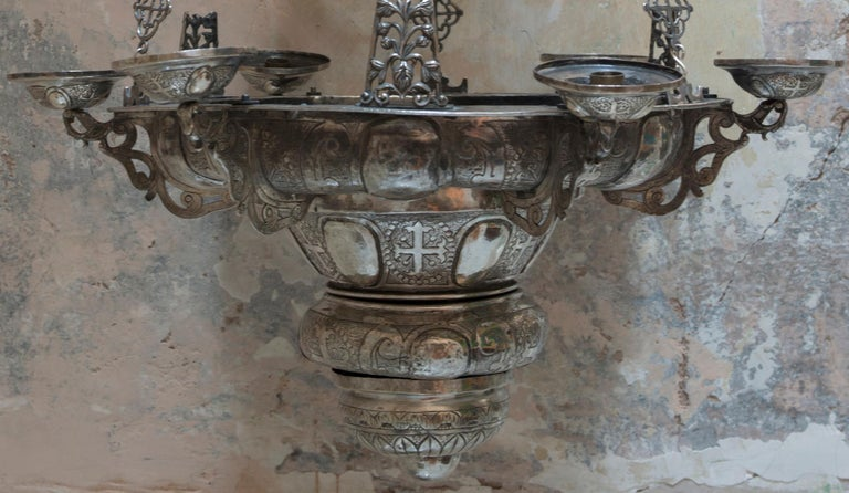 Mexican 18th Century Silver Chandelier For Sale