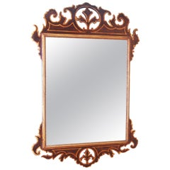 18th Century Simulated Walnut and Parcel Gilt Antique Mirror
