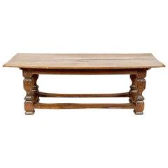 18th Century Solid Oak Baroque Refectory Table