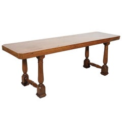 18th Century Solid Walnut Provincial Console or Dining Table