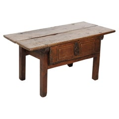 18th Century Solid Walnut Spanish Side Table