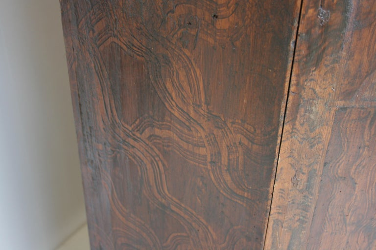 18th Century South German Armoire in Original Paint For Sale 5
