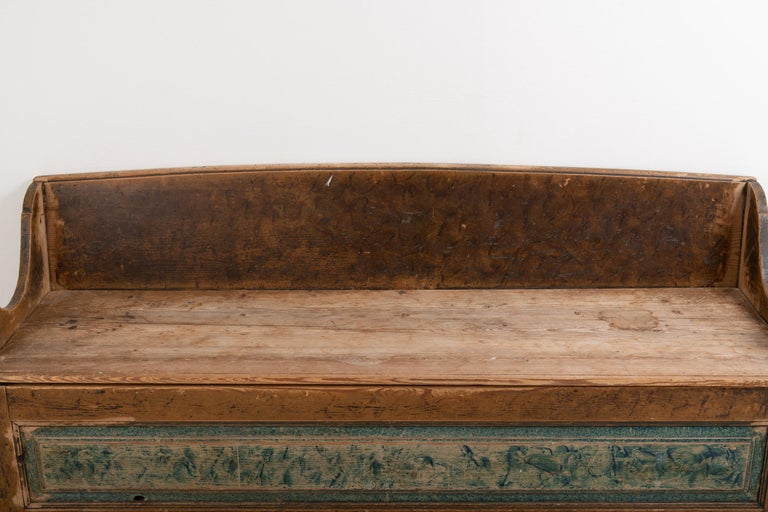 18th Century Southern Swedish Primitive Bench 1