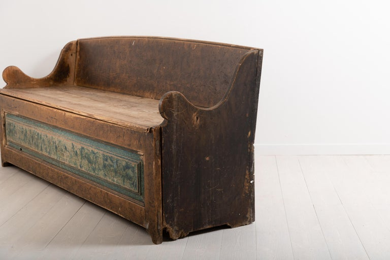 18th Century Southern Swedish Primitive Bench 2