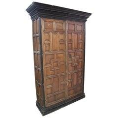 18th Century Spanish 2-Door Cupboard Cabinet w/ Raised Panels
