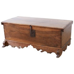 18th Century Spanish Baroque Walnut Coffer or Blanket Chest