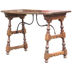 Early Antique Spanish Baroque Walnut Table