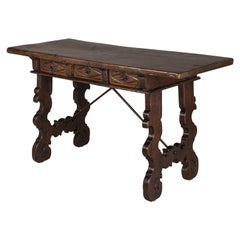 18th Century Spanish Baroque Writing Table or Desk