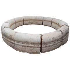 18th Century Spanish Classical Round Stone Pool Surround for a Fountain