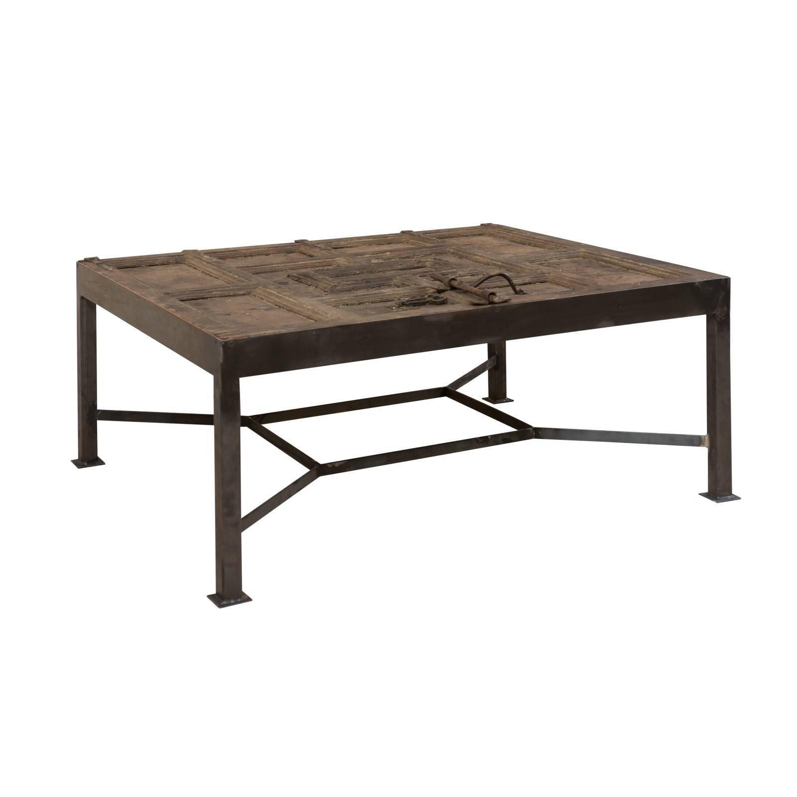 Unique & Custom Designed Coffee Table w/ an 18th Century Spanish Door Top