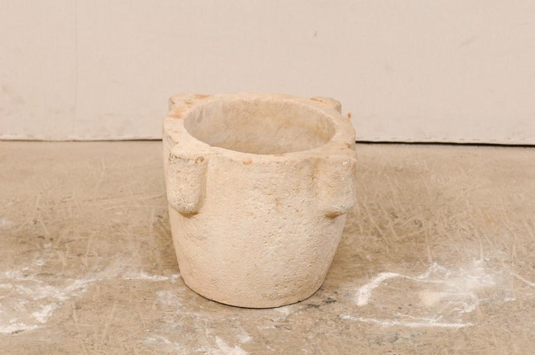 18th Century and Earlier 18th Century Spanish Hand Carved Stone Mortar For Sale