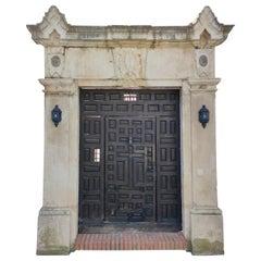 18th Century Spanish Limestone Stately Entrance Surround