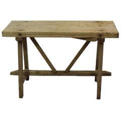 18th Century Spanish Oak Folding Table