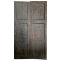 18th Century Spanish Pair of Doors from Peralada with Original Hardware