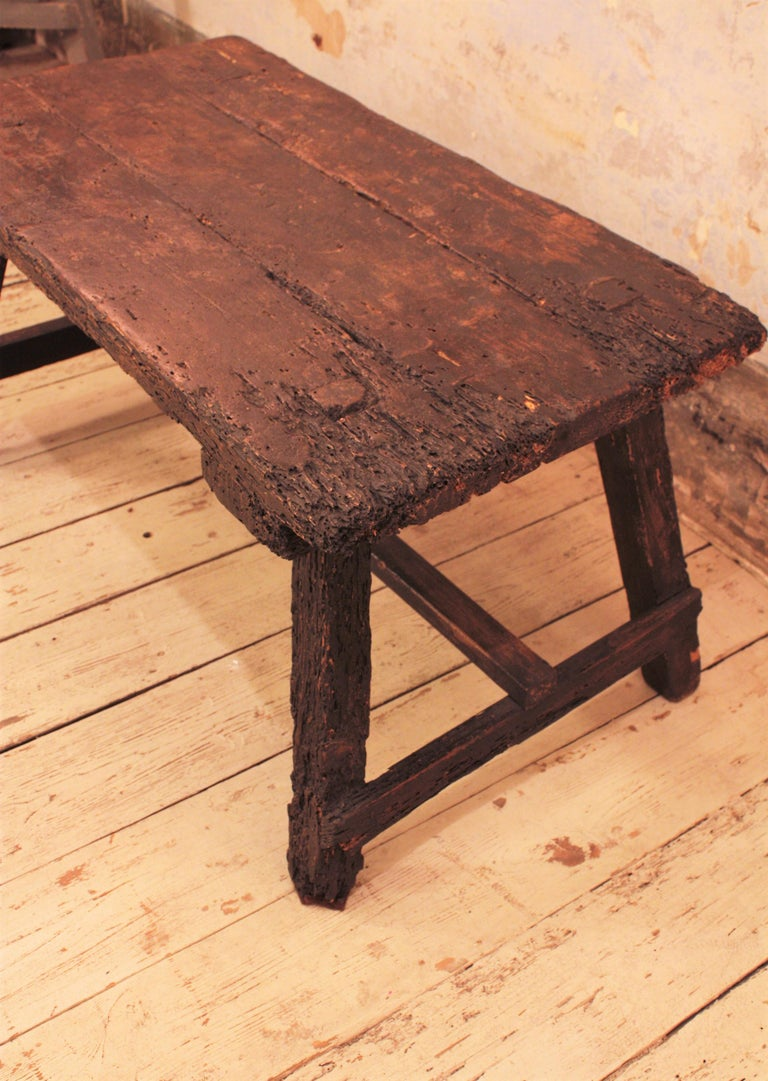 18th Century Spanish Primitive Rustic Bistrot Table/Side Table For Sale 6