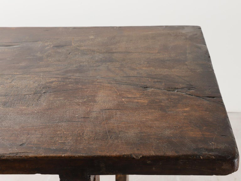 18th Century Spanish Table with Iron Supports For Sale 6