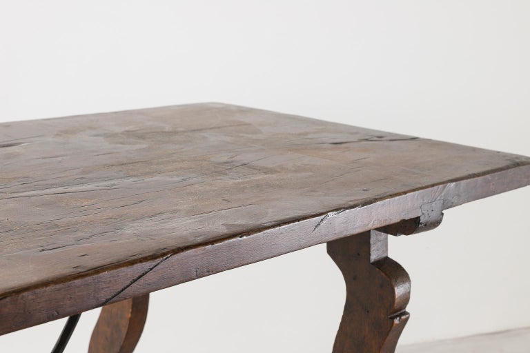 18th Century Spanish Table with Iron Supports For Sale 7