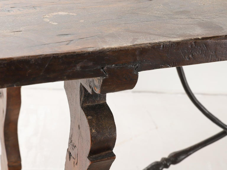 18th Century Spanish Table with Iron Supports For Sale 8