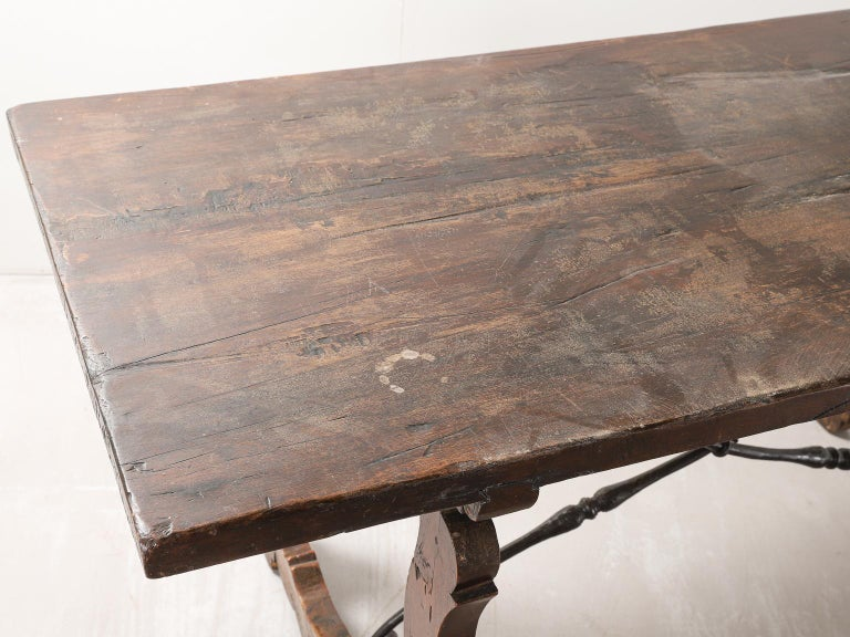 18th Century Spanish Table with Iron Supports For Sale 3
