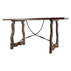 18th Century Spanish Table with Iron Supports