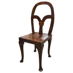 18th Century Spanish Walnut Inlaid Chair