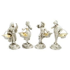 18th Century Sterling Silver Salts by Asprey & Garrard