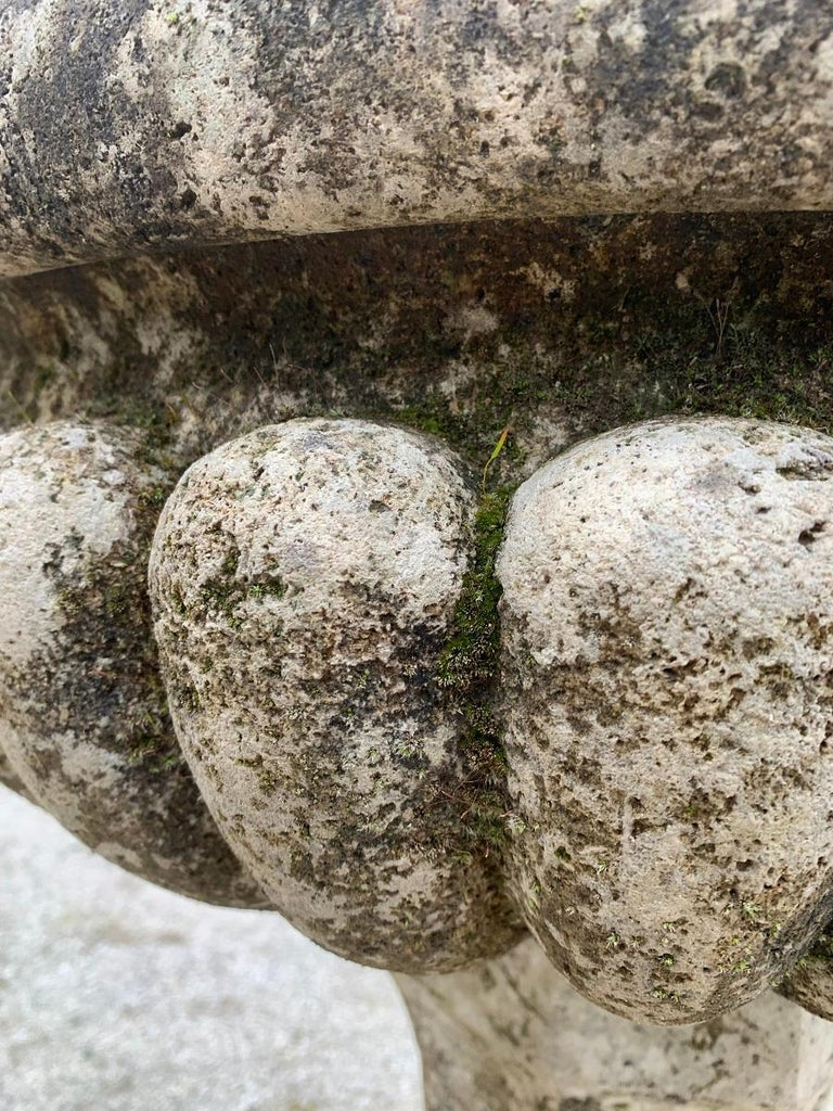 18th Century Stone planter birdbath on colomn For Sale 3