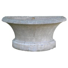 Beginning 19. Century Stone Trough French Volvic Stone, Stone Sink,