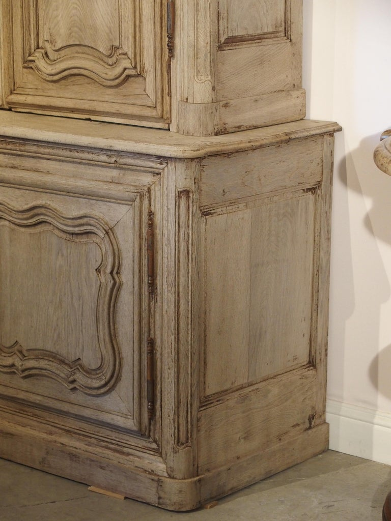 18th Century Stripped Oak Buffet Deux Corps from France For Sale 11
