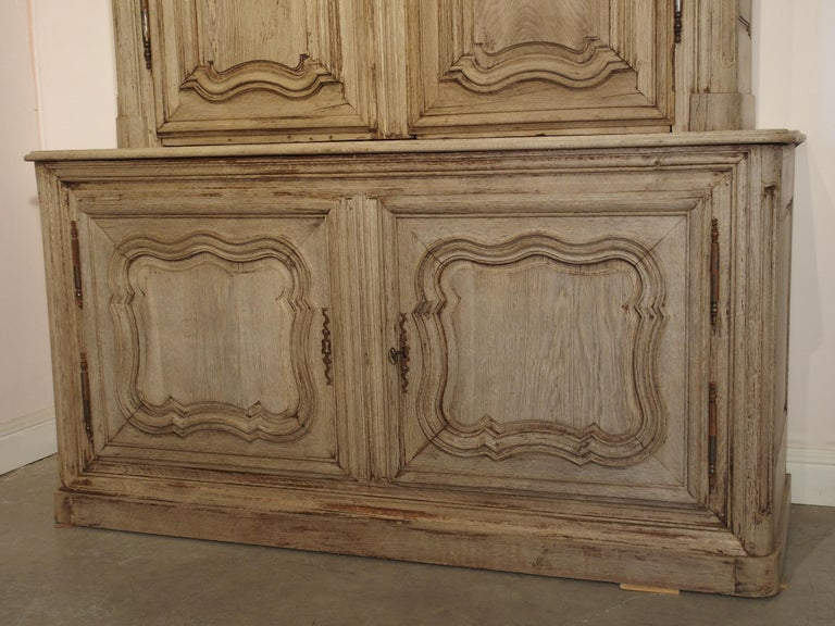 18th Century Stripped Oak Buffet Deux Corps from France For Sale 2