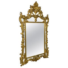 18th Century Style Carved and Gilded Wooden Mirror