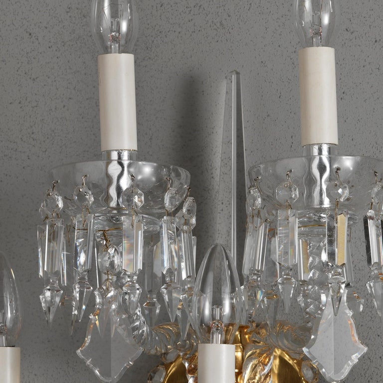 18th Century Style Crystal and Blown Glass Five-Lights Wall Sconce 4