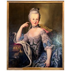 18th Century Style Engagement Portrait of Archduchess Maria Antonia of Austria