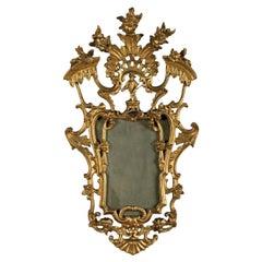 18th Century Style Giltwood Wall Mirror, 19th Century