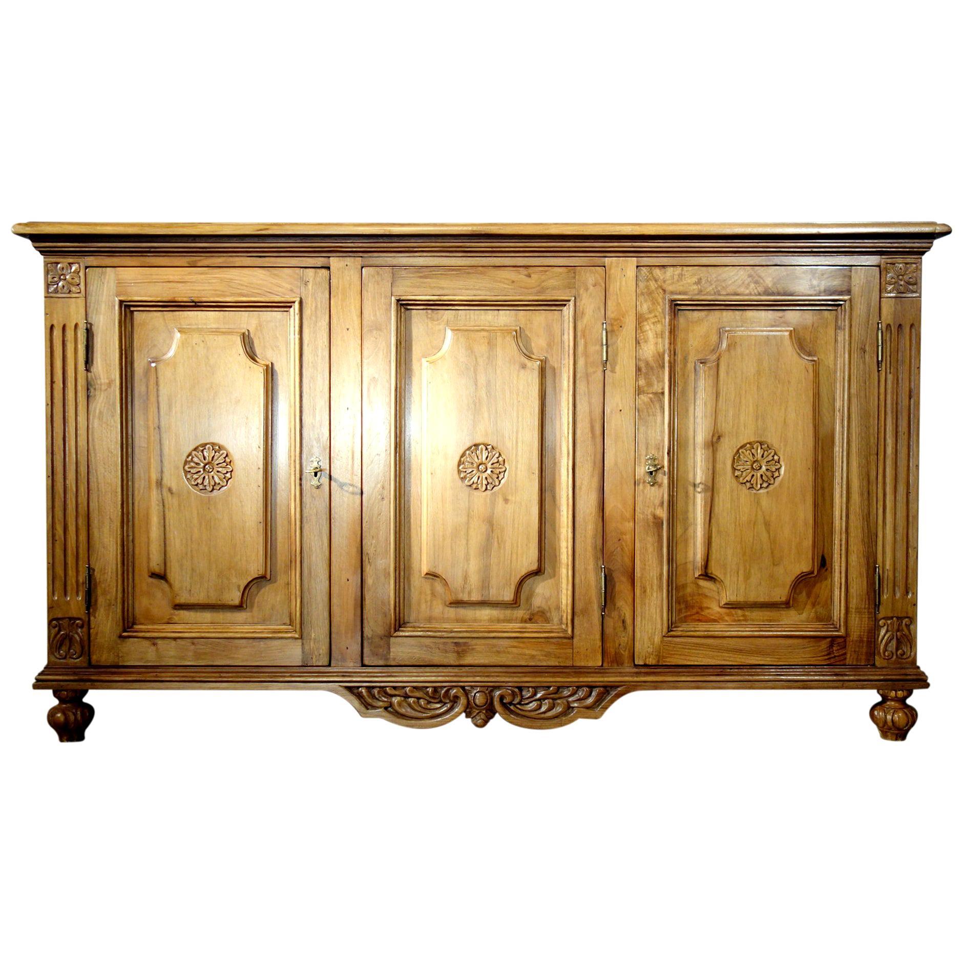 18th Century Style VENEZIA Italian Old Walnut Credenza, Custom Cabinet Line