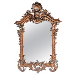 18th Century Style Italian Highly Decorative Walnut Mirror