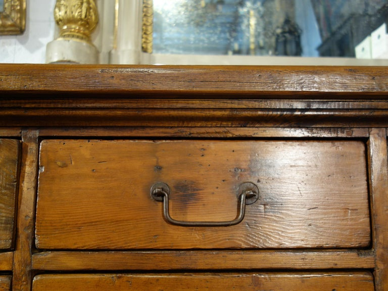 18th Century Style Italian Old Fir 12 Drawer Pharmacy Cabinet, Custom Sizes For Sale 10