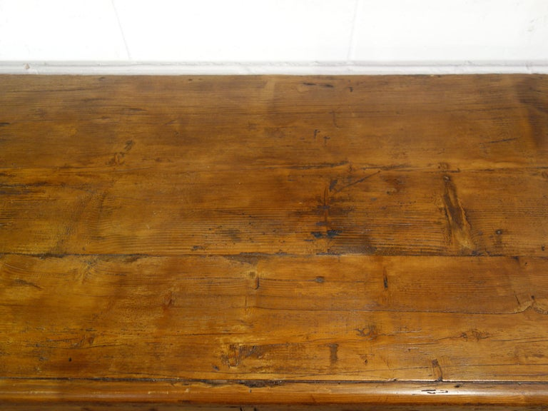18th Century Style Italian Old Fir 12 Drawer Pharmacy Cabinet, Custom Sizes For Sale 11