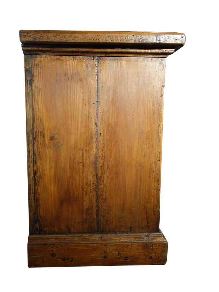 Contemporary 18th Century Style Italian Old Fir 12 Drawer Pharmacy Cabinet, Custom Sizes For Sale