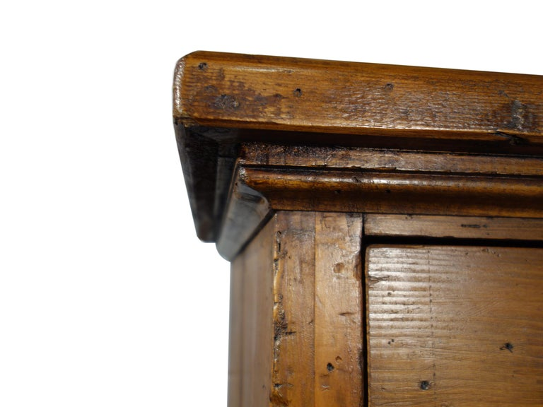 18th Century Style Italian Old Fir 12 Drawer Pharmacy Cabinet, Custom Sizes For Sale 2