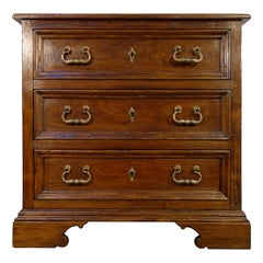 18th Century Style Italian Old Walnut 3-Drawer Cassettone Dresser, Custom Sizes