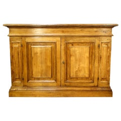 18th Century Style Roma Old Walnut Credenza, Natural Finish, Customizable Line