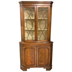 18th Century Style Two-Door Corner Cabinet, Mahogany, Georgian Style